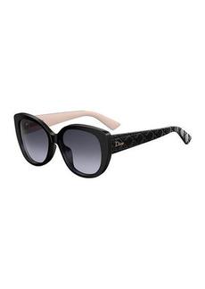 DiorLady1 Oversized Cannage Cat-Eye Sunglasses