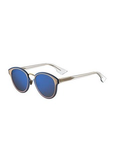 DiorNightfall Square Mirrored Sunglasses