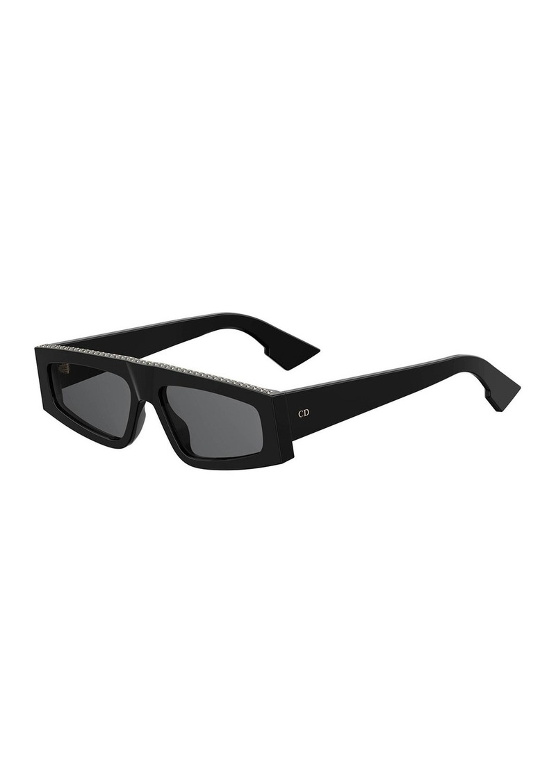 Christian Dior Dior DiorPower Studded Acetate Rectangle Sunglasses