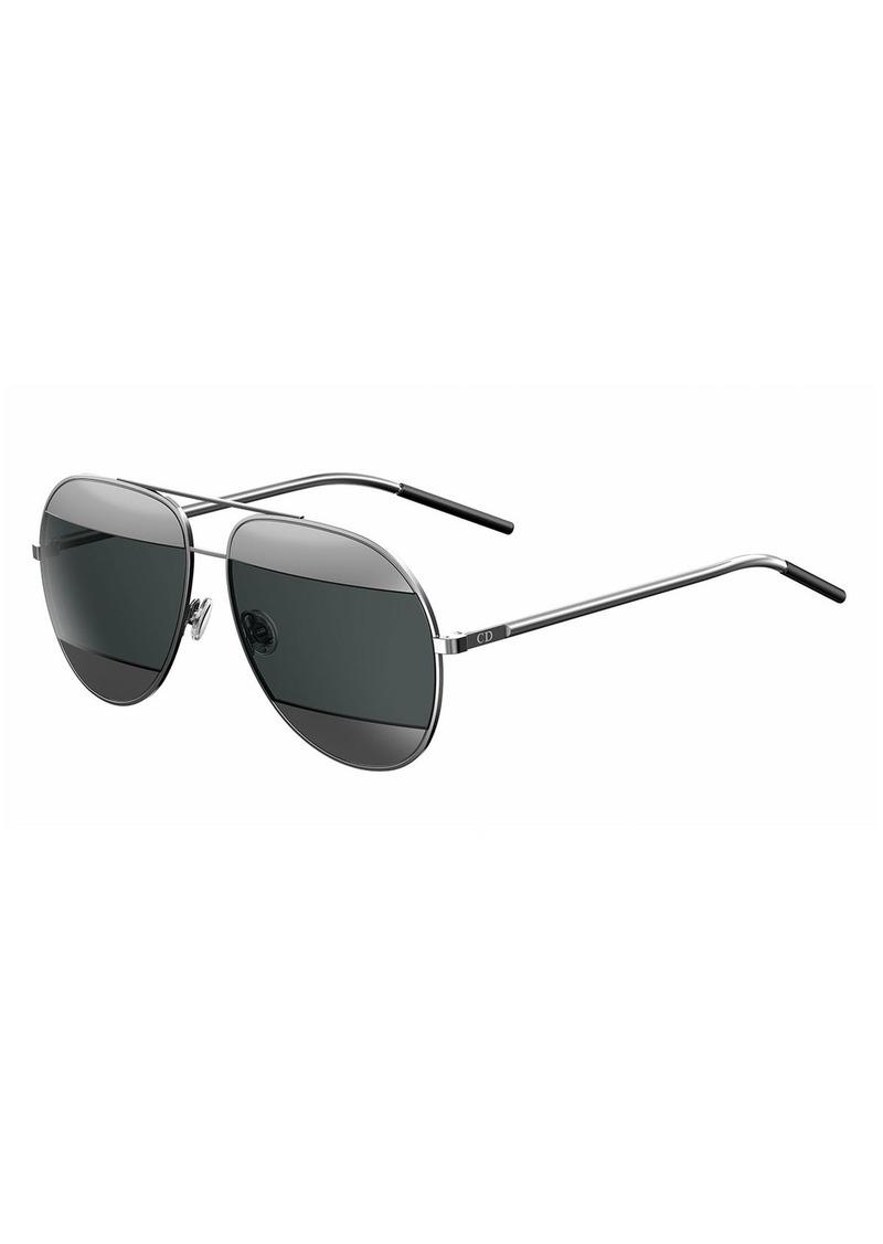 Christian Dior Dior DiorSplit Two-Tone Metallic Aviator Sunglasses