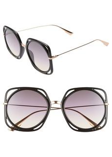 Christian Dior Dior Directions 56mm Square Sunglasses
