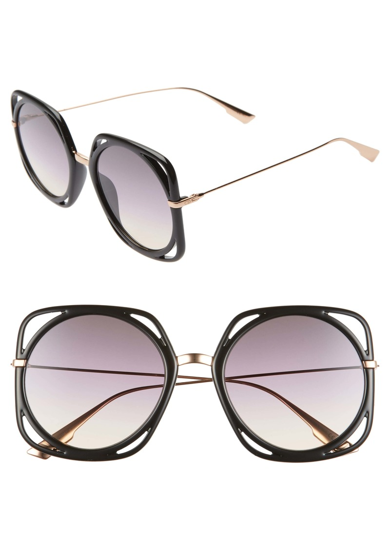 Christian Dior Dior Directions 56mm Square Sunglasses