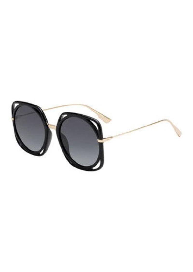 Christian Dior Dior Directions Cutout Gradient Sunglasses