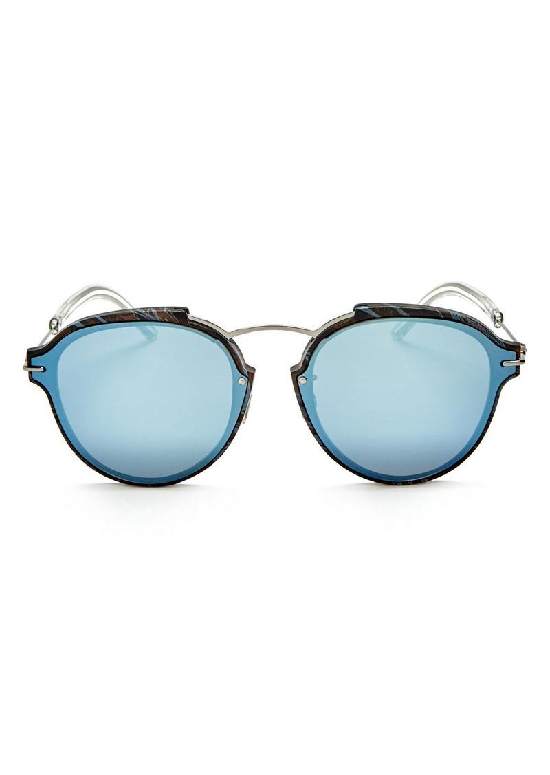 58b9cc18a9 Christian Dior Dior Eclat Mirrored Round Sunglasses