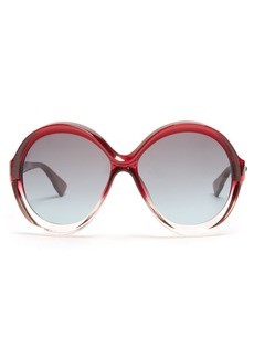 Christian Dior Dior Eyewear Bianca round-frame sunglasses