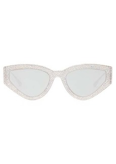 Christian Dior Dior Eyewear CatStyleDior1S crystal-studded cat-eye sunglasses