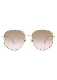 Christian Dior Dior Eyewear Dior by Dior oversized round metal sunglasses
