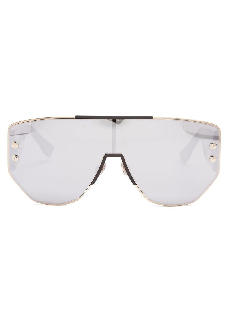 64404090e7 Christian Dior Dior Eyewear DiorAddict1 mirrored D-frame sunglasses ...