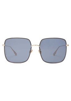 Christian Dior Dior Eyewear DiorByDior chain-edge square metal sunglasses