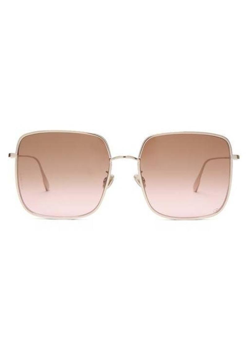 Christian Dior Dior Eyewear DiorByDior chain-edge square metal sunglasses
