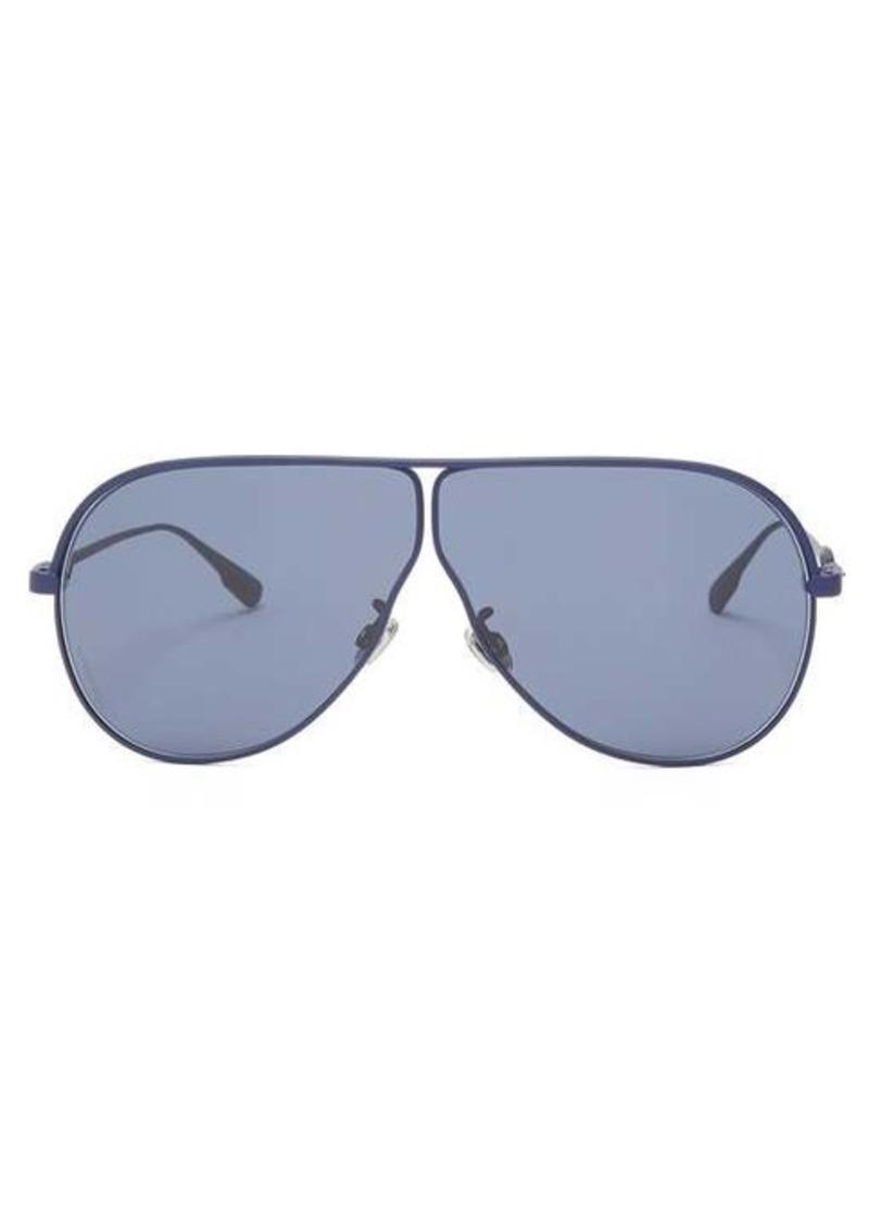 Christian Dior Dior Eyewear Diorcamp rubber-coated navigator metal sunglasses