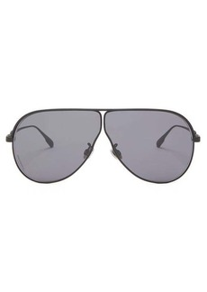 Christian Dior Dior Eyewear Diorcamp rubber-coated navigator metal sunglasses