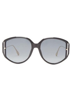 Christian Dior Dior Eyewear DiorDirection oversized round acetate sunglasses