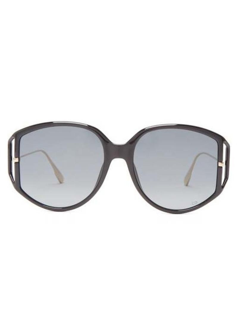 Christian Dior Dior Eyewear DiorDirection oversized round acetate sunglasses
