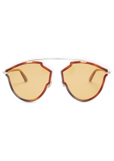 Christian Dior Dior Eyewear DiorSoReal tortoiseshell aviator-frame sunglasses