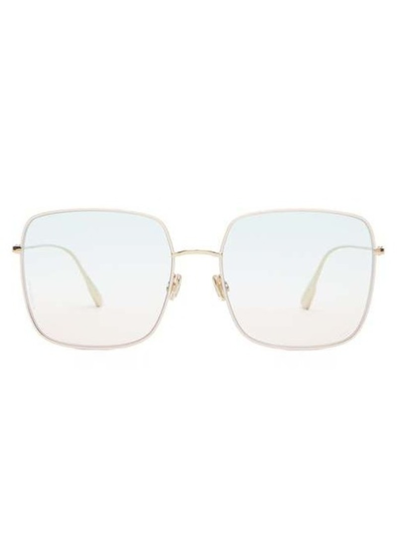 Christian Dior Dior Eyewear Diorstellaire1 square metal sunglasses