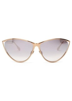 Christian Dior Dior Eyewear New Motard cat-eye metal sunglasses