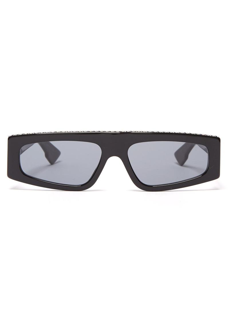 fefeabfc282a6 Christian Dior Dior Eyewear Power crystal-embellished flat-top sunglasses