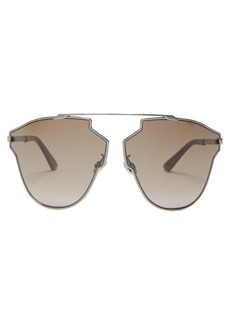 Christian Dior Dior Eyewear Real Fast angular metal aviator sunglasses
