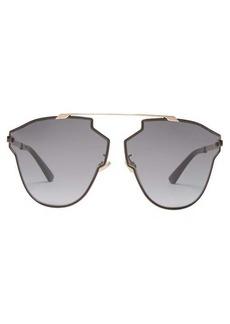 Christian Dior Dior Eyewear So Real Fast angular metal aviator sunglasses