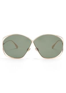 Christian Dior Dior Eyewear Stellaire2 oversized metal sunglasses