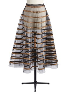 Christian Dior Dior Fishnet Tulle Skirt With Rib