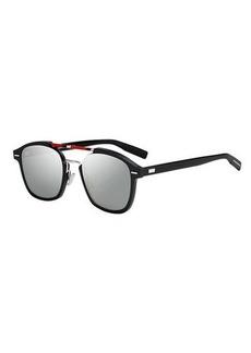 Christian Dior Dior Flat-Lens Square Aluminum Sunglasses