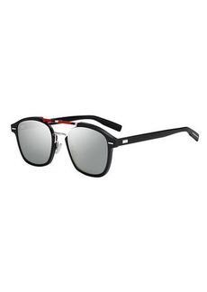 Christian Dior Flat-Lens Square Aluminum Sunglasses