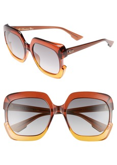 Dior Gaia 58mm Square Sunglasses