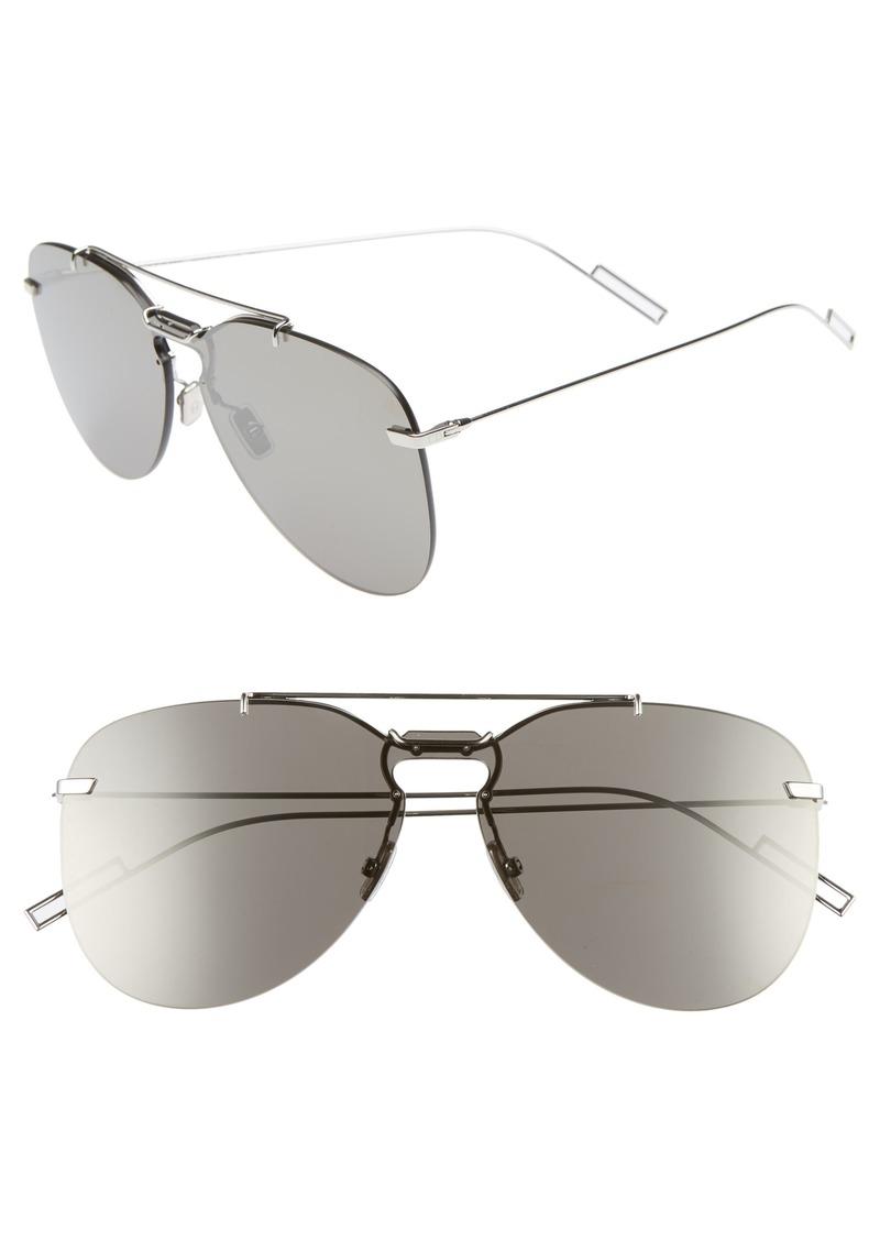Christian Dior Dior 62mm Mirrored Aviator Sunglasses