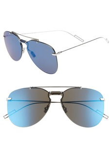 Christian Dior Dior 62mm Mirrored Aviator Sunglasses
