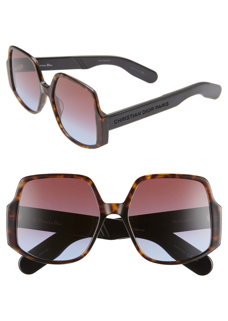 Christian Dior Dior Inside Out 57mm Square Sunglasses