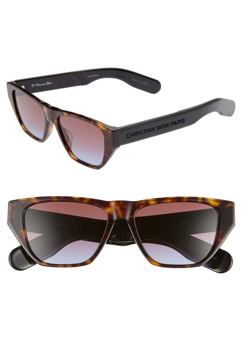 Christian Dior Dior Insidout2s 54mm Flat Top Sunglasses