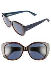 Christian Dior Dior Lady 55mm Cat Eye Sunglasses