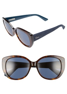 Dior Lady 55mm Cat Eye Sunglasses