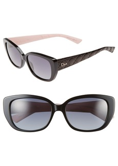 Christian Dior Dior Lady 55mm Cat Eye Sunglasses