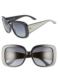 Christian Dior Dior Lady 56mm Square Sunglasses