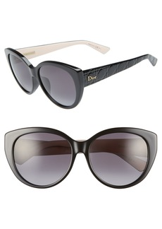 Christian Dior Dior Lady 58mm Cat Eye Sunglasses