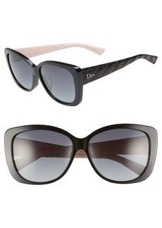 Christian Dior Dior Lady 59mm Cat Eye Sunglasses