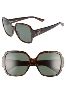 Christian Dior Dior Lady Dior Stud 57mm Special Fit Square Sunglasses