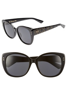 Christian Dior Dior Lady Stud 58mm Polarized Rounded Special Fit Sunglasses