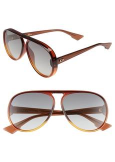 Dior Lia 62mm Oversize Aviator Sunglasses