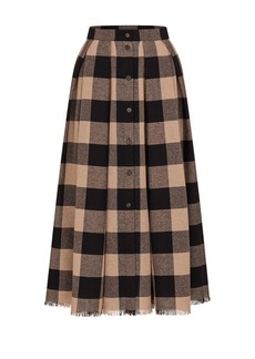 Christian Dior Dior Light Wool Check Midi Skirt