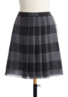 Christian Dior Dior Light Wool Check Short Skirt