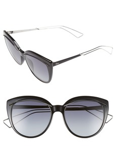 Christian Dior Dior 'Liner' 56mm Cat Eye Sunglasses
