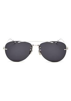 Christian Dior Dior Men's Chroma Brow Bar Aviator Sunglasses, 62mm