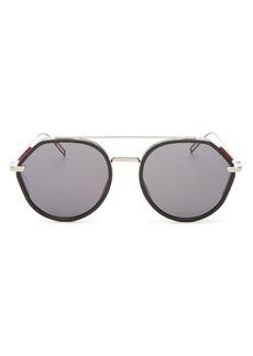 Christian Dior Dior Men's Vintage Mirrored Brow Bar Round Sunglasses, 52mm