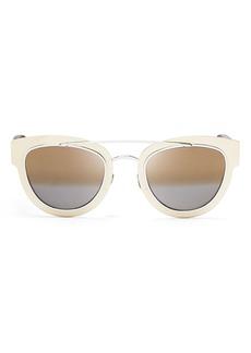 Christian Dior Dior Women's Mirrored Chromic Cat Eye Sunglasses, 42mm