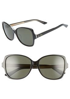 Christian Dior Dior Montaigne 57mm Rectangular Sunglasses