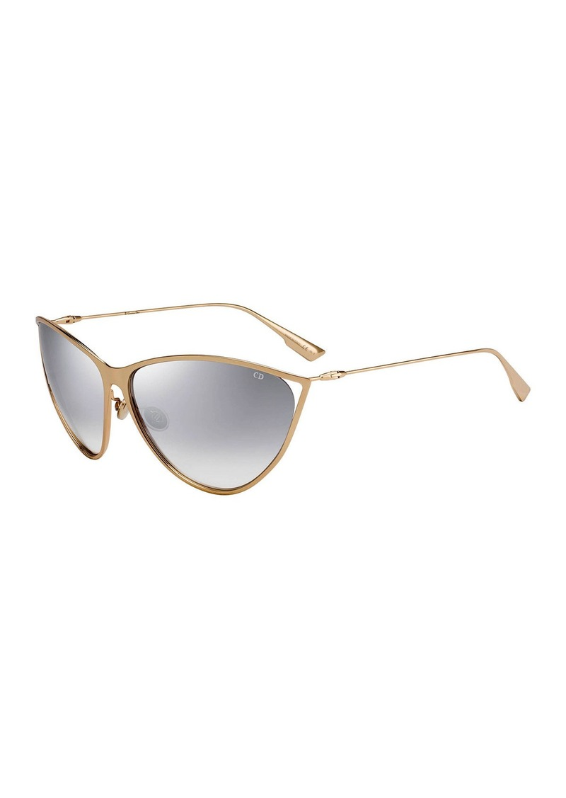 Christian Dior Dior New Motards Mirrored Metal Butterfly Sunglasses